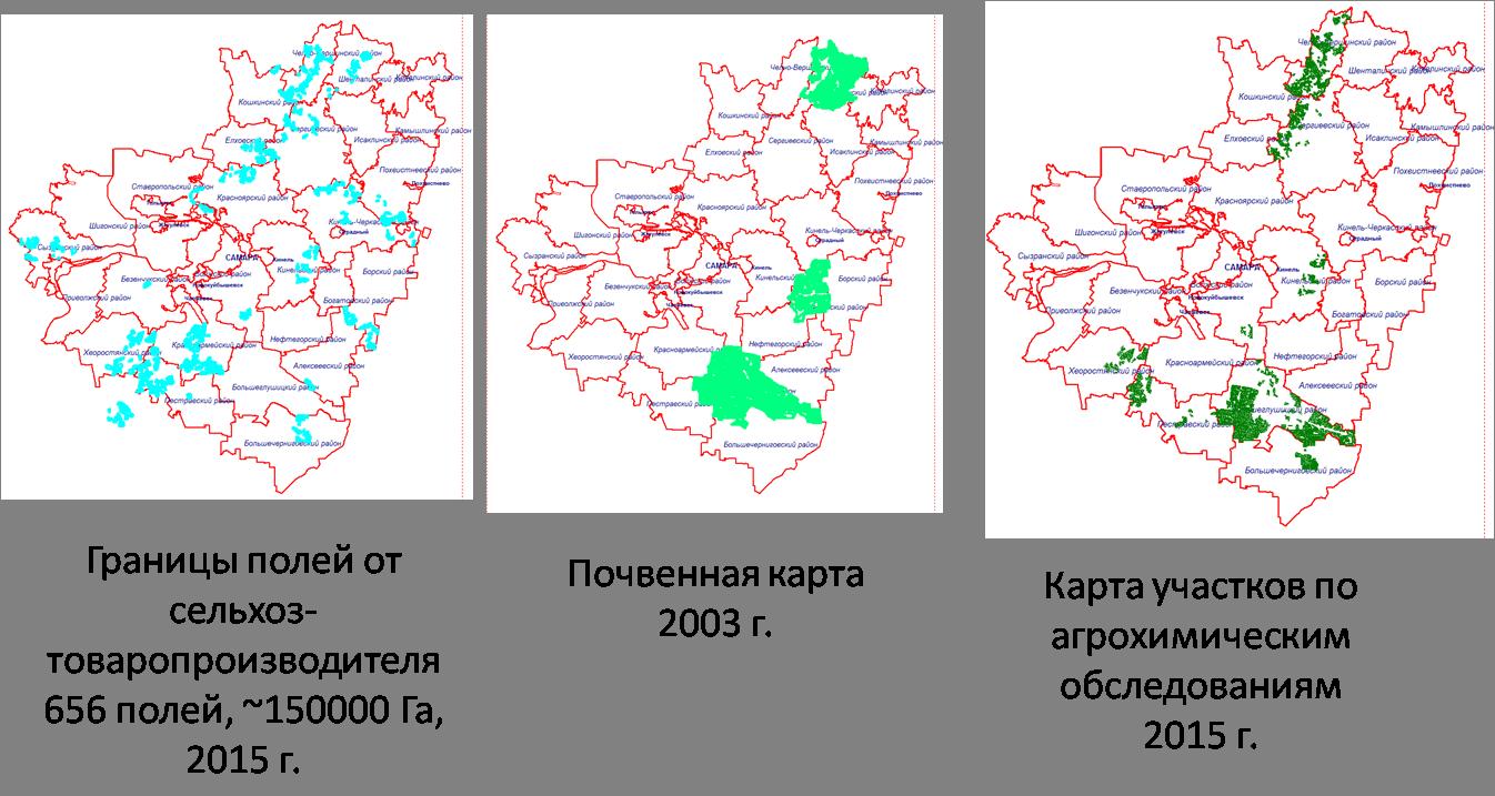 Векторные данные для прогнозирования урожайности