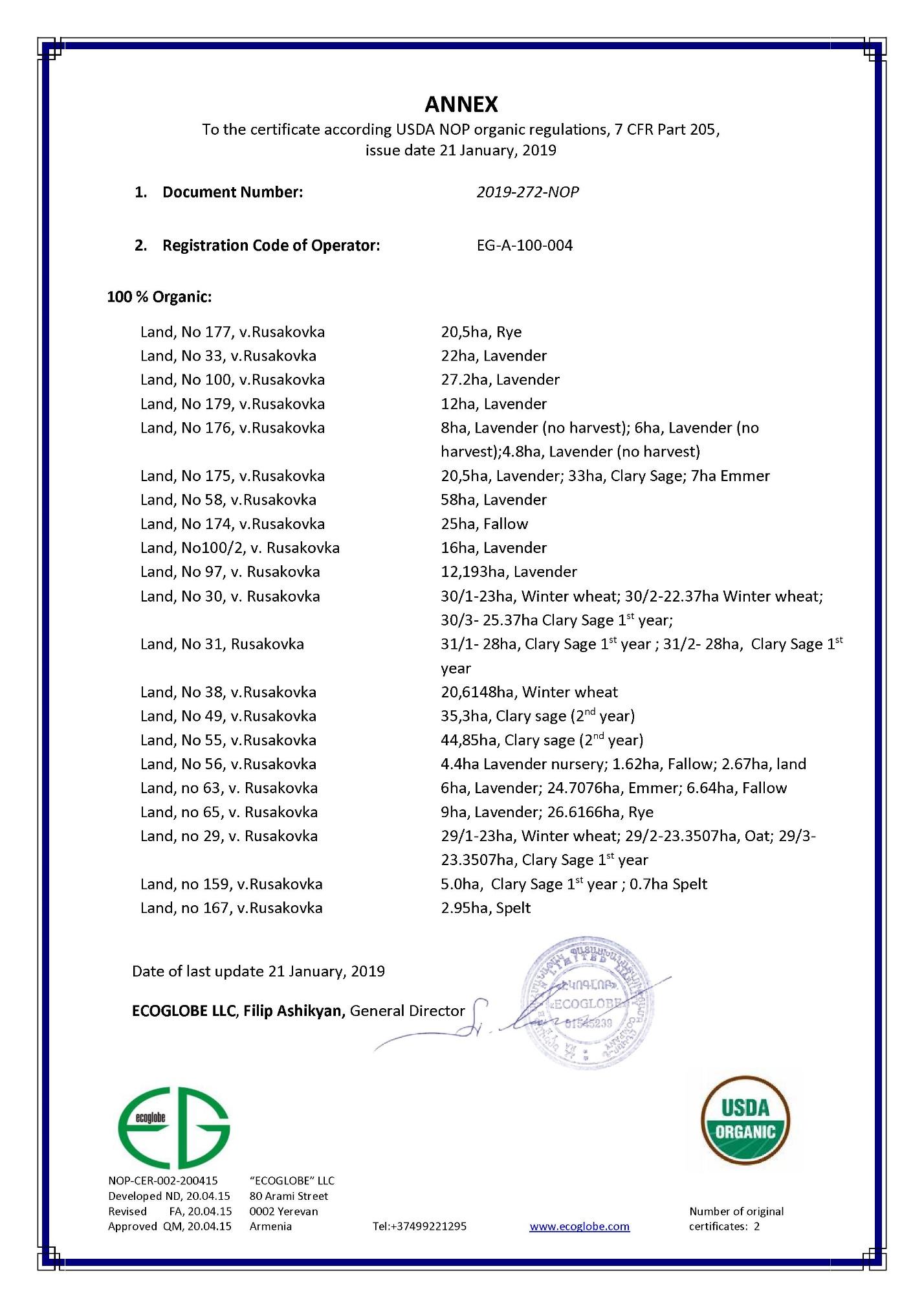 word image 103 Комплексное эколого-химическое обследование по международным стандартам «Органик» хозяйства - экспортера и обоснование целесообразности производства органической продукции в условиях юга России