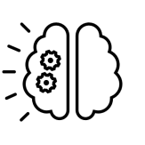 Левое полушарие мозга контур