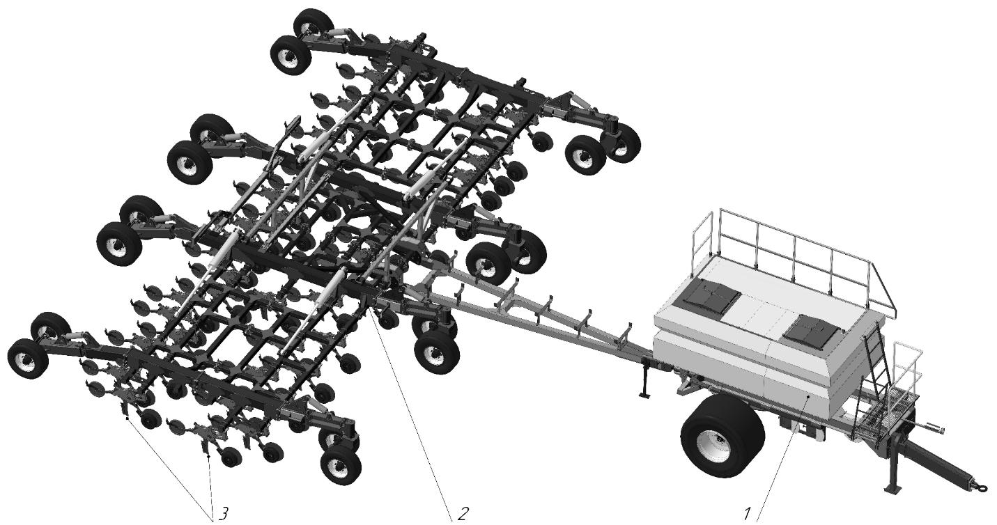 word image 1212 Разработка конструктивной схемы и обоснование параметров почвообрабатывающего посевного агрегата с пневматическим высевом семян для тракторов класса тяги 5