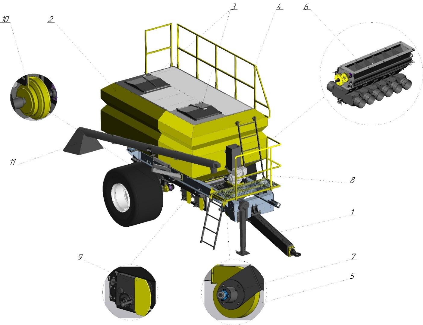 word image 226 Разработка конструктивной схемы и обоснование параметров почвообрабатывающего посевного агрегата с пневматическим высевом семян для тракторов класса тяги 5